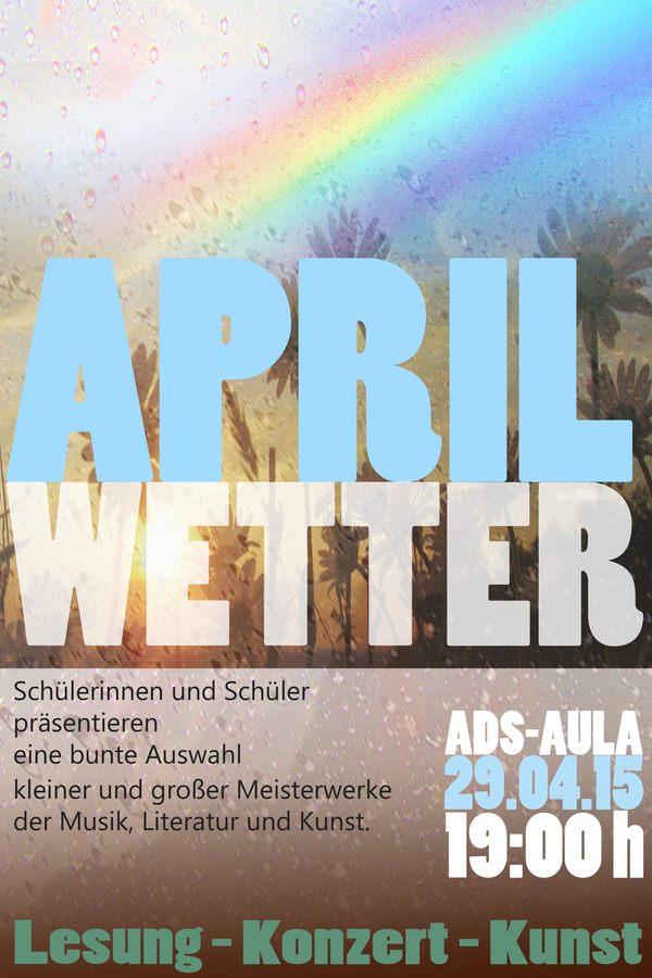 Plakat Aprilwetter