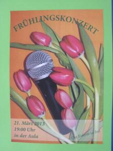 Plakat des Konzertes
